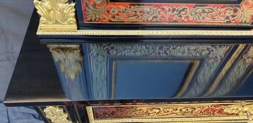 Furniture  - Cabinet secretary in Boulle marquetry late 19th czntury