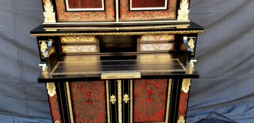 Cabinet secretary in Boulle marquetry late 19th czntury -