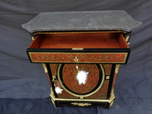 Cabinet in Boulle marquetry 19th Napoléon III -