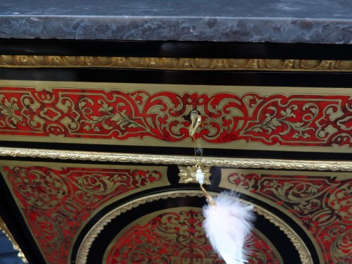 19th century - Cabinet in Boulle marquetry 19th Napoléon III