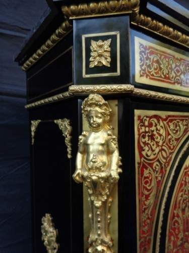 Antiquités - Cabinet in Boulle marquetry 19th Napoléon III