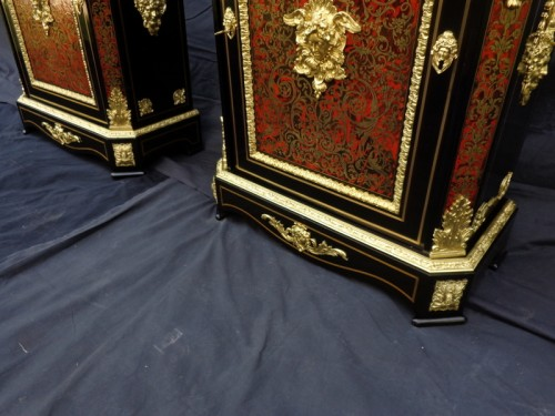 Pair of Cabinet in Boulle marquetry 19th Napoléon III -