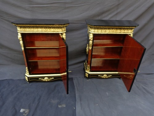 19th century - Pair of Cabinet in Boulle marquetry 19th Napoléon III