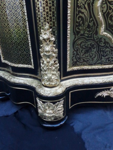 Cabinet in Boulle marquetry 19th opening on 1 door Napoleon III period -