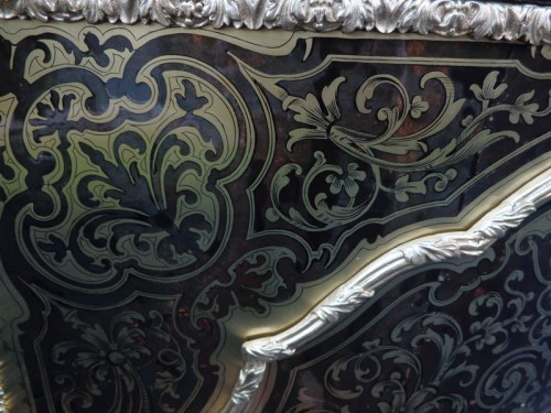 Cabinet in Boulle marquetry 19th opening on 1 door Napoleon III period - Napoléon III