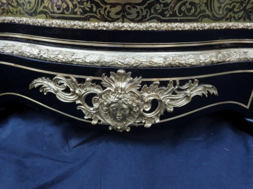 Napoléon III - Cabinet in Boulle marquetry 19th opening on 1 door Napoleon III period