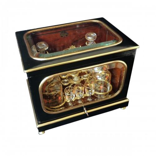 Napoleon III  Tantalus Box stamped ZIMBERG