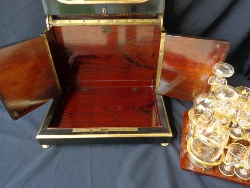 Napoleon III  Tantalus Box stamped ZIMBERG - Napoléon III