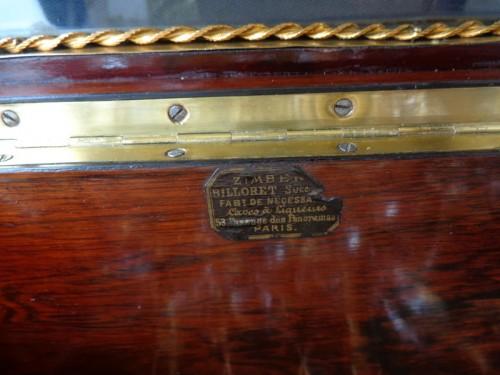 Antiquités - Napoleon III  Tantalus Box stamped ZIMBERG