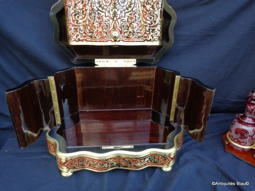 Bohême crystal Tantalus Box in Boulle marquetry late 19th century - Napoléon III
