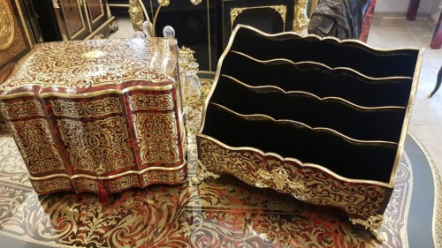 Big Sorter File MAQUET Napoléon III period Boulle marquetry - Decorative Objects Style Napoléon III
