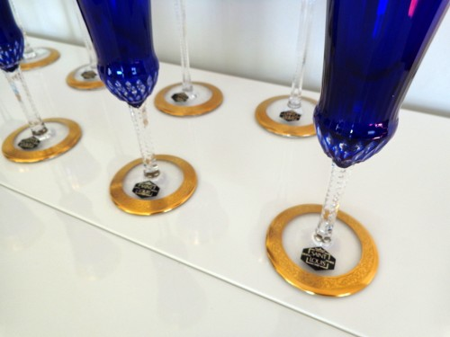 - Crystal of Saint Louis Roemers and Champagne glasses