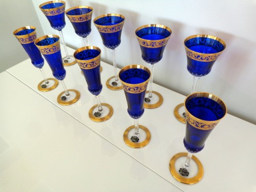 Antiquités - Crystal of Saint Louis Roemers and Champagne glasses