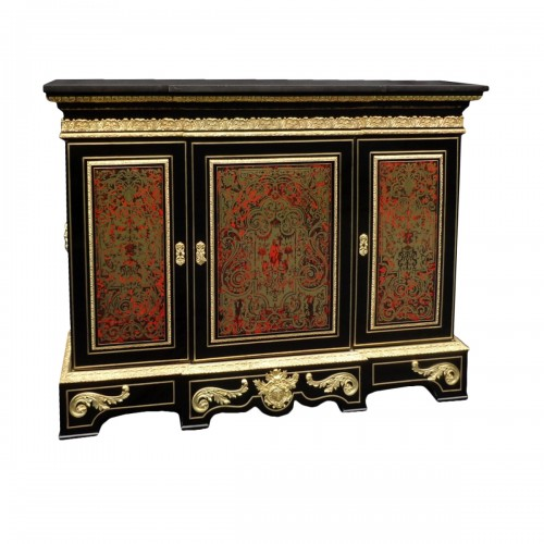 Impressive french credenza in marquetry Boulle 19th Napoléon III period