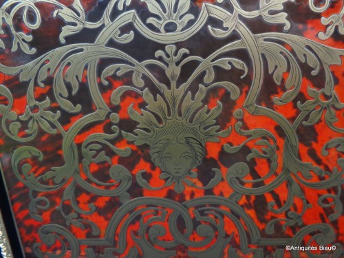 Impressive french credenza in marquetry Boulle 19th Napoléon III period -