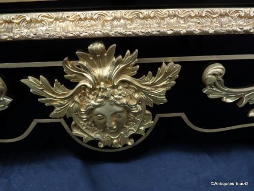 Napoléon III - Impressive french credenza in marquetry Boulle 19th Napoléon III period