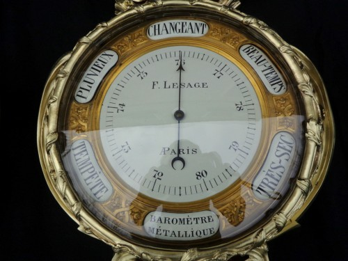 Pair of Boulle Marquetry Clock and Barometer Napoléon III period -