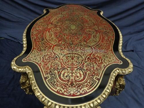 Napoléon III - Table in marquetry Boulle 19th Napoléon III period -