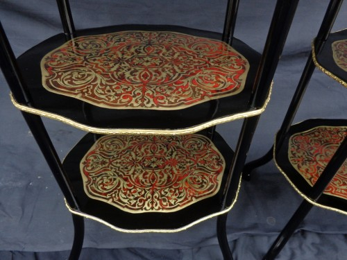 Antiquités -  Pair of little table in Boulle marquetry Napoléon III period