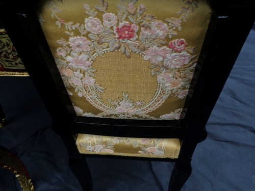 19th Napoléon III Chair in Boulle style marquetry signed - Napoléon III
