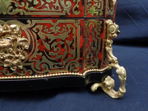 stamped  BERTHET Jewelry Box in Boulle marquetry Napoleon III period 19th - Decorative Objects Style Napoléon III