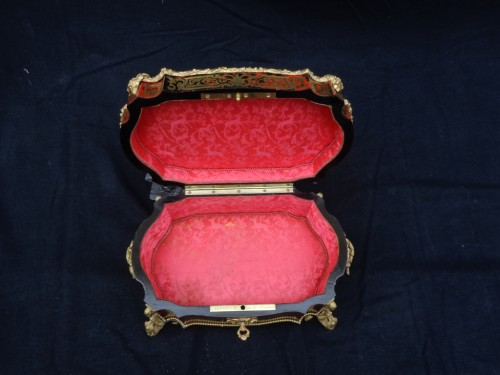 Decorative Objects  - stamped  BERTHET Jewelry Box in Boulle marquetry Napoleon III period 19th