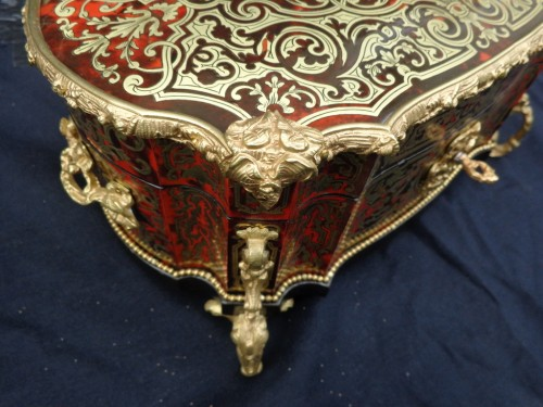 Napoléon III - stamped  BERTHET Jewelry Box in Boulle marquetry Napoleon III period 19th