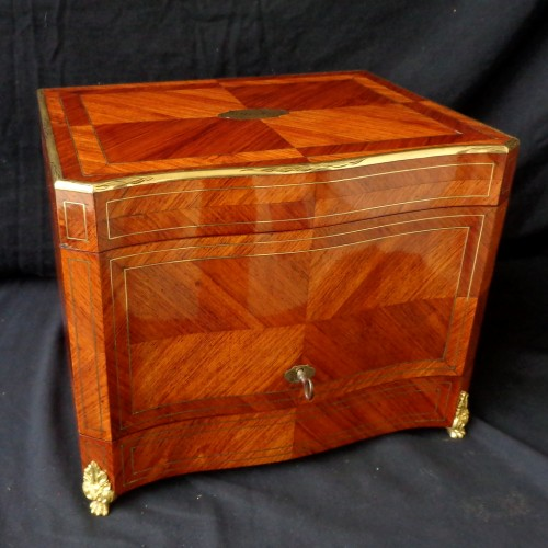 Tantalus Box in Rosewood marquetry Boulle Napoleon III period 19th - Decorative Objects Style Napoléon III