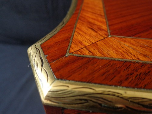 Tantalus Box in Rosewood marquetry Boulle Napoleon III period 19th -
