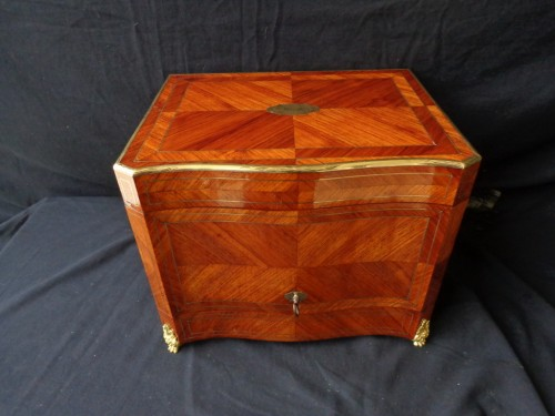 Antiquités - Tantalus Box in Rosewood marquetry Boulle Napoleon III period 19th