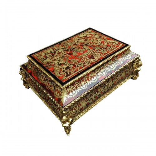 Jewelry Box in Boulle style marquetry signed Garnesson à Paris