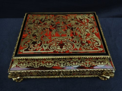 Jewelry Box in Boulle style marquetry signed Garnesson à Paris - Decorative Objects Style