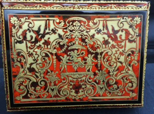 Decorative Objects  - Jewelry Box in Boulle style marquetry signed Garnesson à Paris