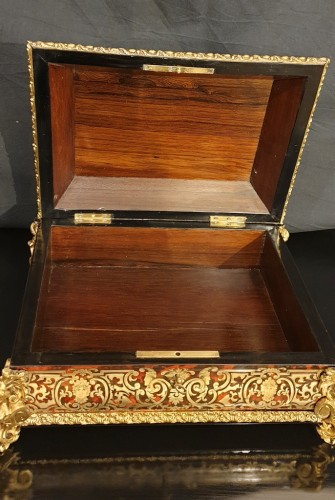 19th century - Jewelry Box in Boulle style marquetry signed Garnesson à Paris