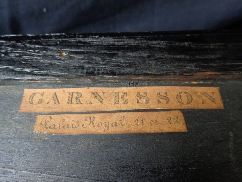 Antiquités - Jewelry Box in Boulle style marquetry signed Garnesson à Paris