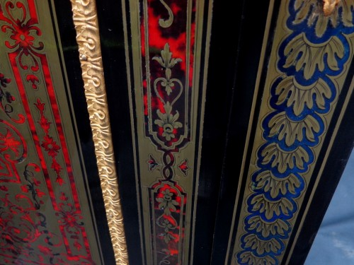 Cabinet multi colors in Boulle marquetry 19th Napoléon III - Furniture Style Napoléon III