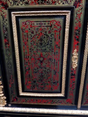 Napoléon III -  Cabinet multi colors in Boulle marquetry 19th Napoléon III