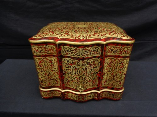 Decorative Objects  - Tantalus Box stamped Th Année in Boulle marquetry Napoleon III period 19th