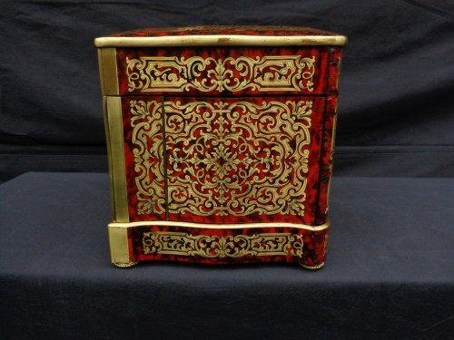 Tantalus Box stamped Th Année in Boulle marquetry Napoleon III period 19th -