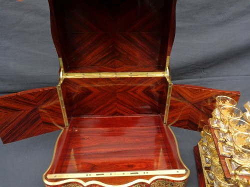 Antiquités - Tantalus Box stamped Th Année in Boulle marquetry Napoleon III period 19th