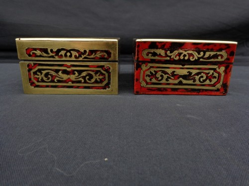 Decorative Objects  -  Pair of Boxes in Boulle marquetry 19th Napoleon III period