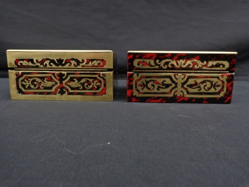Pair of Boxes in Boulle marquetry 19th Napoleon III period - Napoléon III