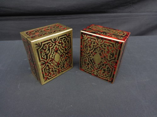 Napoléon III -  Pair of Boxes in Boulle marquetry 19th Napoleon III period