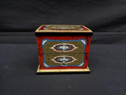 Napoleon III scent box signed TAHAN - Decorative Objects Style Napoléon III