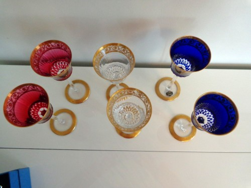6 Glasses Hocks Roemer in crystal Saint Louis - Thistle gold -