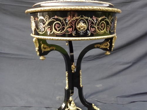 Furniture  -  Dressing Table in Boulle marquetry 19th Napoleon III period