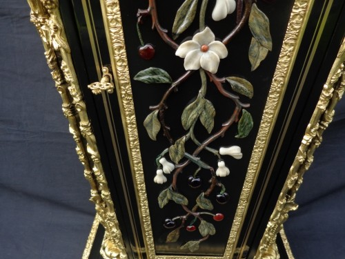 Napoléon III - Cabinet in Pietra Dura Boulle marquetry 19th Napoleon III period