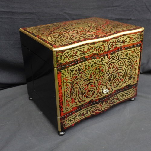Decorative Objects  - Tantalus Box in Boulle marquetry Napoleon III period 19th