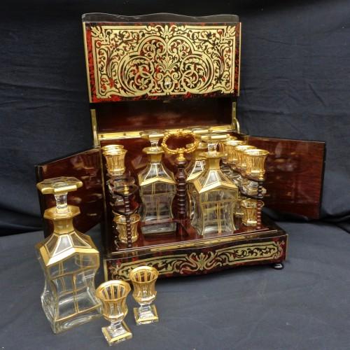Napoléon III - Tantalus Box in Boulle marquetry Napoleon III period 19th