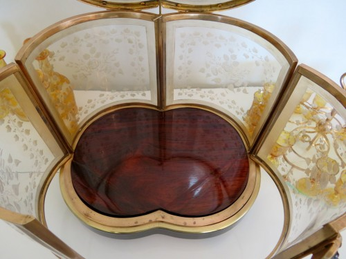 Bohême crystal Tantalus Box Bronze Napoleon III period 19th - Louis-Philippe